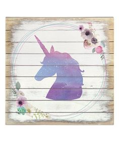 There's nothing as timeless as a likeness captured in silhouette. The French art form has lived on through the centuries to bring artisan style to walls in museums and mansions alike. To add the same touch of tradition with unmatched sophistication to your space, hang this pastel purple unicorn box sign.