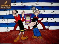 Now even Popeye knows CORNITOS! is tasty and healthy.