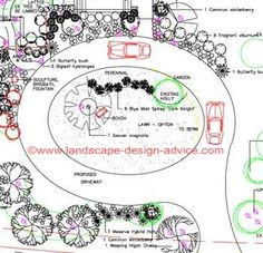 Circular driveway design. Here are some exact dimensions to know for these types of driveways. http://www.landscape-design-advice.com/driveway-designs.html