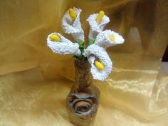 DIY Flores ALCATRACES reciclando. Gannet flowers recycling