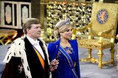 King Willem Alexander and Queen Maxima on their Inauguration Day