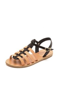 Ancient Greek Sandals Korinna Two Tone Gladiator Sandals