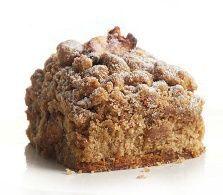 Diabetic-friendly Apple Cinnamon Crumb Cake.