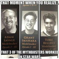 Three of The Mythbusters Worked On Star Wars