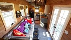 Nomad's Nest 5th Wheel Tiny Home on Wheels by Wind River Tiny Homes Tiny House Living, Home Living Room, Small Living, Home Room Design, House Design, Palace, Micro House, Outdoor Kitchen Design, Design Kitchen