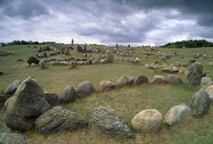 Lindholm, Denmark: A Viking burial ground at Lindholm, near Alborg, Denmark.  (Photo Credit: Atlantide Phototravel/Corbis)