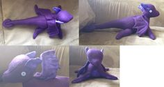 Purple cloudy dragon by purenightshade.deviantart.com on @DeviantArt  Made with a sewing pattern from www.beezeeart.com