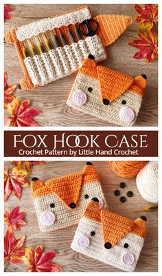 Crochet Fox Pattern Free, Crochet Gratis, Easy Crochet Patterns, Crochet Patterns Amigurumi, Cute Crochet, Crochet Designs, Hand Crochet, Crochet Accessories Free Pattern, All Free Crochet