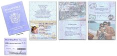 Passport 11, Destination Wedding, Lavender - Custom Passport Invitations Passport Form, Passport Cover, Passport Invitations, Invitation Text, New Twitter, Table Cards, Response Cards, Card Sizes, Your Cards