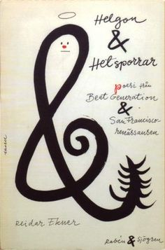 Helgon & Hetsporrar, Poetry from the Beat Generation and San Francisco Renaissance  Cover by Olle Eksell  Raben & Sjogren, 1960