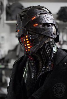 Pre-order pour juillet 2017 - Erebus original design complet généraux masque/casque w / protège-cou - sur mesure sur commande originale LED Sci-Fi casque
