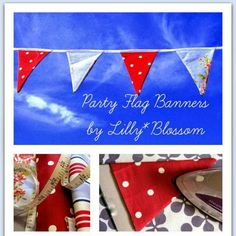 The easiest way to make your garden party extra special, here are two Patterns, one stitched the traditional way and one quick and easy with iron adhesive tape! Instant impact and a great way to use up your scraps of favourite fabrics.