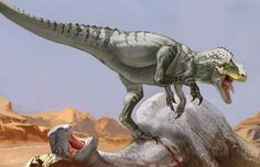 *Allosaurus fragilis & *Camarasaurus. Art by Carlo Arellano.