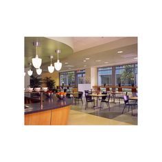This hospital's cafeteria design creates zones with both dining and stand up seating. To learn more, visit falconproducts.com.   Image repinned from @Rebekah Zarkou Carson