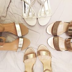 Are you a bride or bridesmaid this year? Metallic shoes will go great with almost any dresses. #spendlesslook #metallic #weddingseason