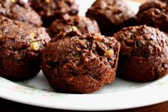sprouted coconut cocoa banana muffins up close