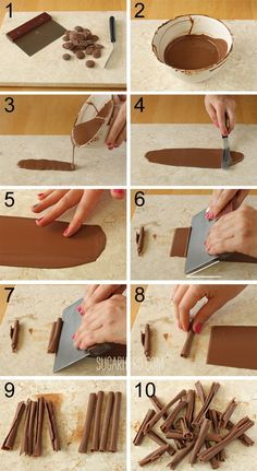 How to make chocolate curls! From SugarHero.com