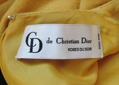 from a vintage Dior dress Christian Dior, Dior Dress, Vintage Dior, Clothing Labels, Dressmaking, Authenticity, Sunglasses Case, Coin Purse, Packaging