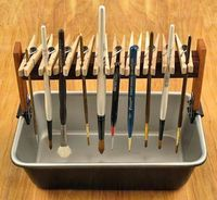 A way to dry your brushes and use household stuff to make it! Thanks Myf Roberts!