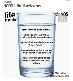 Best times to drink water!
