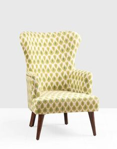 Buy Fabindia Brown Daig Wood Upholstered Joita Chair Online in India – Fabindia.com Study Room Furniture, Study Rooms, Upholstered Chairs, Wingback Chair, Armchair, Modern Furniture Online, Contemporary Furniture, Fabindia Furniture, Ikat Print
