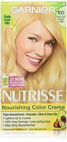 Garnier Nutrisse Nourishing Color Creme  100 Chamomile ExtraLight Natural Blonde 1 EA  Buy Packs and SAVE Pack of 5 * Click image for more details.