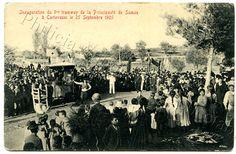 1905 Printed Postcard Opening of Tramway Carlovassi Samos Greece Samos Greece, Old Names, Greece Vacation, Samara, Paris Skyline, Island, World, Prints, Travel