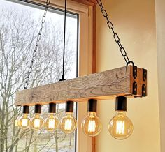 8 Cheap Things to Maximize a Small Bedroom . Rustic Light Fixtures, Hanging Light Fixtures, Rustic Lamps, Wood Lamps, Farmhouse Lighting, Rustic Lighting, Bar Lighting, Lighting Design, Farmhouse Decor