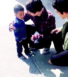 Dylan so cute with a little boy