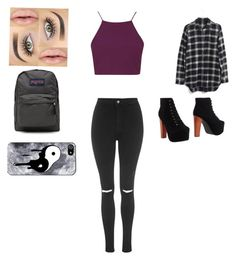 """""""School"""" by sorry-im-me ❤ liked on Polyvore featuring moda, Topshop, Madewell, Jeffrey Campbell y JanSport"""