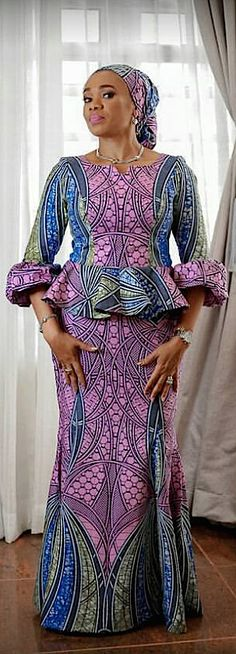 Exclusive Ankara Styles sewn with Vlisco Hollandis for Women - FashionSkout Latest African Fashion Dresses, African Dresses For Women, African Print Dresses, African Print Fashion, Africa Fashion, African Attire, African Wear, African Women, Ankara Dress