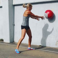 Tag a friend to do this super fun and sweaty medicine ball workout with you!  All you'll need for it is a medicine ball, your own body, and a lot of determination - so get ready to work hard