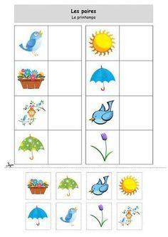 loto le printemps Preschool Learning Activities, Preschool Curriculum, Spring Activities, Kindergarten Worksheets, Toddler Activities, Preschool Activities, Activities For Kids, Montessori Toddler, Math For Kids