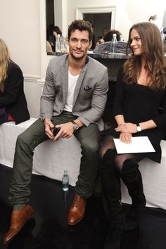 David Gandy - look at the look on her face!  LOL