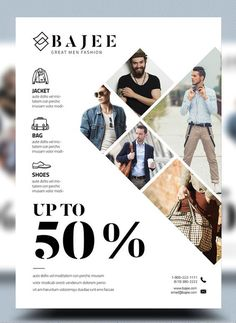 Photo Collage Sales Flyer Example - Create an asymmetrical layout for an edgy sales flyer design // New Flyer Design Examples, Templates & Ideas Graphic Design Flyer, Web Design, Brochure Design, Layout Design, New Flyer, Sale Flyer, Poster Layout, Flyer Layout, Flyer Design Inspiration