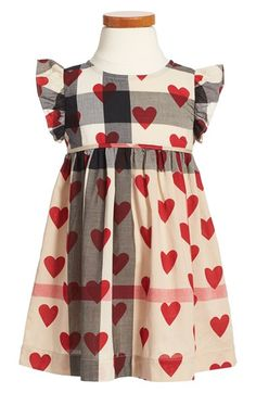 Burberry 'Amanda' Check & Heart Print Cotton Voile Dress (Toddler Girls) available at #Nordstrom