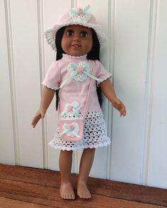"Maggie's Crochet · 18"" Doll Rose T-Shirt Dress, Hat & Purse"