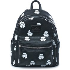 Loungefly Storm Troopers Backpack ($62) ❤ liked on Polyvore featuring bags, backpacks, zip top bag, faux leather bag, mini backpack, loungefly bags and day pack backpack