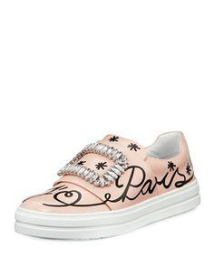 Sneaky+Viv+Love+Paris+Sneaker,+Pink+by+Roger+Vivier+at+Neiman+Marcus.