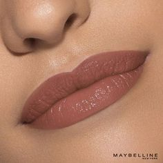 Color Sensational Vivid Matte Liquid Lip Color by Maybelline. Create a stunning & hydrating look with Maybelline Matte Lipstick, glides on smooth to matte. Neutral Lipstick, Nude Lipstick, Liquid Lipstick, All Things Beauty, Beauty Make Up, Hair Beauty, Beauty Secrets, Beauty Hacks, Beauty Products