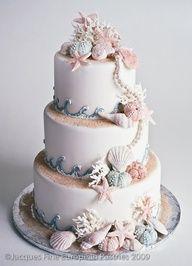Spring and Summer Wedding Cake Inspiration: 23 Beautiful Wedding Cakes - Maritimes Flair / Strandhochzeit - Gateau Beautiful Wedding Cakes, Beautiful Cakes, Dream Wedding, Elegant Wedding, Trendy Wedding, Romantic Weddings, Small Weddings, Camo Wedding, Amazing Cakes