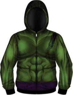 The Incredible Hulk Marvel Costume Sublimation Hoodie Shirt Jacket