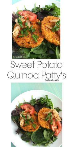 Healthy Sweet Potato Quinoa Patty's Vegan GF #vegan #glutenfree #healthy