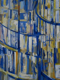 """Maria-Elena Vieira da Silva (1908-1992) """"Les tours"""", dét. (1953) musée de Grenoble (Isère, France) (by Denis Trente-Huittessan)"""