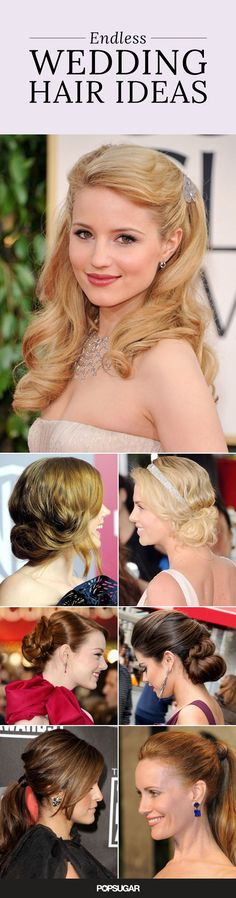 Take a look back at the red carpet for some wedding hair inspiration. Whether you are a bride-to-be or bridesmaid, have a wedding to attend in the near future, or are just looking for a hairstyle with a little something special, you've come to the right place. Get creative!