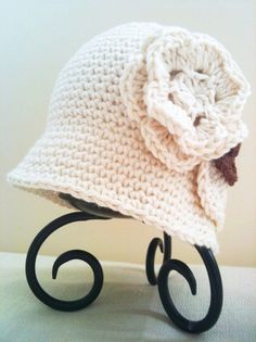 CROCHET PATTERN: Classic Crochet Cloche Hat (0014) - Permission to Sell Finished Product