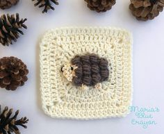 Hedgehog Granny Square - free crochet pattern. Woodland Afghan Series at Maria's Blue Crayon.