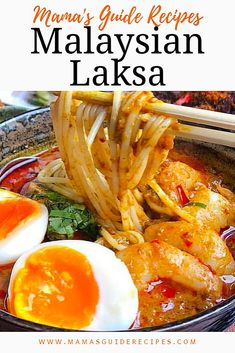 Malaysian Laksa is definitely a spicy and hot soup. The ultimate soup you need i… Malaysian Laksa is definitely a spicy and hot soup. The ultimate soup you need in any cold weather. One of the hottest soup with so much depth of flavour. Malaysian Cuisine, Malaysian Food, Malaysian Recipes, Asian Recipes, Healthy Recipes, Ethnic Recipes, Asian Desserts, Laksa Soup Recipes, Curry Laksa