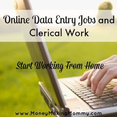Finding Online Data Entry Jobs #workathome