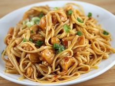 Looking for a new linguine recipe? Try our Asian Chicken Linguine! It's a recipe filled with traditional Asian flavor that you can make at home; ginger, garlic, and delicious hoisin sauce make this linguine recipe a one-way ticket to Asia! Pasta Dishes, Food Dishes, Main Dishes, Pasta Food, Main Meals, I Love Food, Asian Recipes, Chinese Recipes, Chicken Recipes